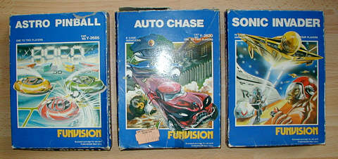 Three boxed Funvision games from my collection