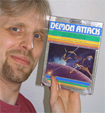 Gerald Kloos with his favourite Intellivision game