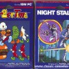 BurgerTime and Night Stalker for IBM PC, front side of boxes