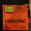 Videopac Gunfighter demo cart: Closeup of demo sticker on box